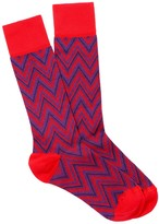 J.Mclaughlin Flitch Stitch Jacquard Socks