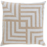 Surya Metallic Stamped Decorative Pillow