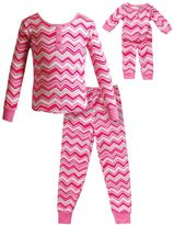 Dollie & Me Girls 4-14 Chevron Pajama Set