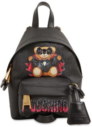 Moschino Mini Coated Canvas Backpack