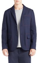 Marni Men's Contrast Stitch Sport Coat