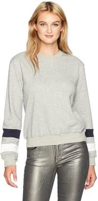 EVIDNT Women's French Terry Contrast Sleeve Sweatshirt