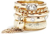 GUESS Cassie Gold-Tone Ring Set (Size 7)