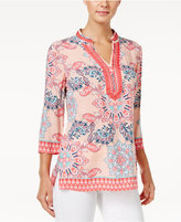 Charter Club Printed Tunic, Only at Macy's