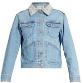 Etoile Isabel Marant Christa embellished-collar denim jacket