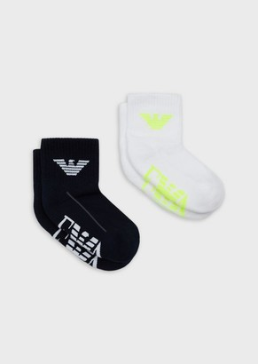 Emporio Armani Pack Of 2 Pairs Of Socks With Logo