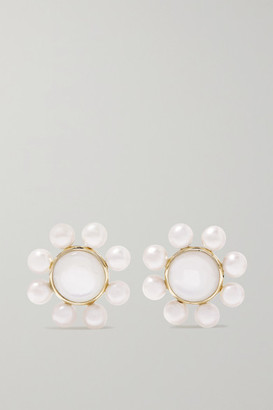 Ippolita Nova 18-karat Green Gold Pearl Earrings - one size