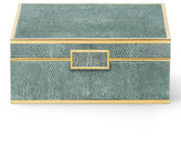 AERIN Small Emerald Shagreen Jewelry Box