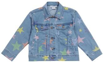 Stella McCartney Kids Printed stretch-denim jacket