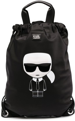 Karl Lagerfeld Paris K/Ikonik convertible backpack