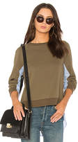 Derek Lam 10 Crosby Shirting Combo Pullover in Army. - size L (also in M,S,XS)