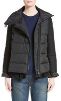 Moncler Women's 'Laurine' Mixed Media Down Jacket
