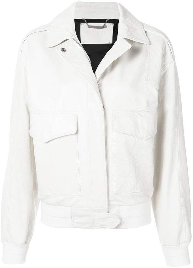 Givenchy zipped biker jacket