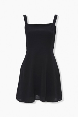 Forever 21 Textured Shoulder-Strap Mini Dress