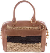 Rebecca Minkoff Straw-Paneled Leather Satchel