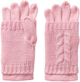 Joe Fresh Women's Cable Knit Gloves, JF Perennial Pink (Size O/S)