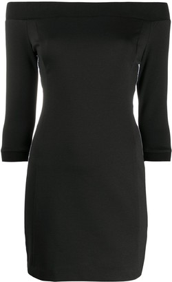 Calvin Klein Jeans Off-Shoulder Jersey Mini Dress
