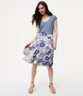 LOFT Floral Tiered Skirt
