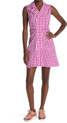Derek Lam Satina Gingham Sleeveless Shirt Dress