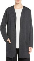 Eileen Fisher Tencel ® & Merino Wool Long Cardigan
