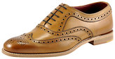 Loake Fearnley Brogue Oxford Shoes, Tan