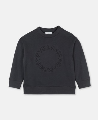 Stella Mccartney Kids Stella McCartney logo embossed cot/poly sweatshirt