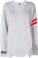 Diesel striped distressed sweater - women - Cotton - S
