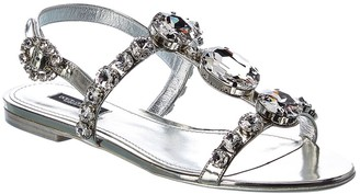Dolce & Gabbana Metallic Leather Sandal