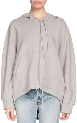Balenciaga Hooded Zip-Front Cocoon Sweatshirt