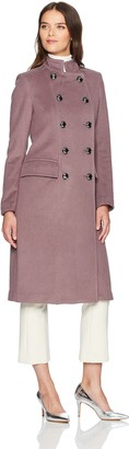 Badgley Mischka Women's Trinity Military Inspired Wool Coat with Embroidery Detail