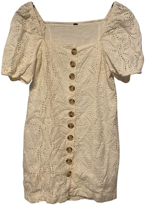 Free People Beige Cotton Dresses