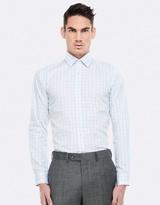 Henley Purple Check Shirt