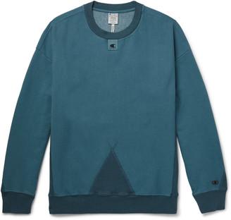 Champion + Craig Green Logo-Detailed Garment-Dyed Cotton-Blend Jersey Sweatshirt