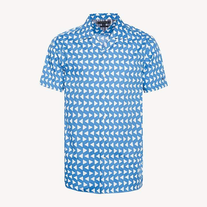 2e6a9f2b Tommy Hilfiger Blue Poplin Tops For Men - ShopStyle UK