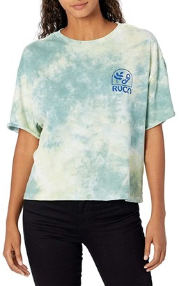 RVCA Chainlink Tee (Green) Women's Clothing