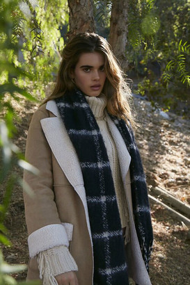 Forever 21 Faux Suede Shearling Coat