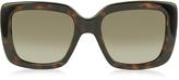 Gucci GG 3814/S LSDHA Havana Optyl Square Frame Women's Sunglasses