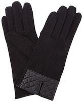 Condura NEW Wool Mix Quilted Cuff Gloves Black