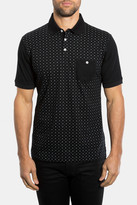 7 Diamonds Hypnotize Print Mercerized Polo