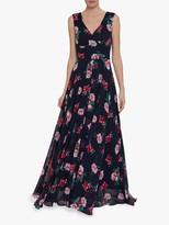 Gina Bacconi Edana Floral Maxi Dress, Black/Multi
