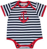 Little Ella James Stripes And Anchor Baby Grow