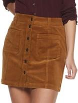Mudd Juniors' Front Button Cord Skirt