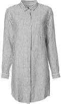 OSKLEN striped shirt dress - women - Linen/Flax - M