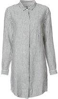OSKLEN striped shirt dress - women - Linen/Flax - P