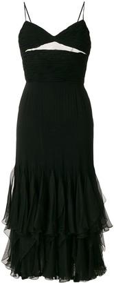 Valentino Pre Owned ruffle trim dress