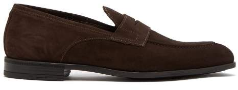 Harry's of London Clive R Suede Loafers - Mens - Dark Brown