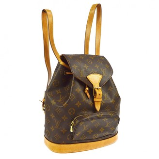 Louis Vuitton Brown Leather Backpacks
