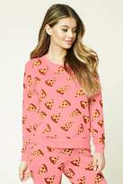 Forever 21 Pizza Print PJ Top