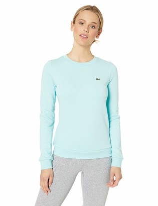 Lacoste Women's Long Sleeve Fleece Crewneck Sweatshirt