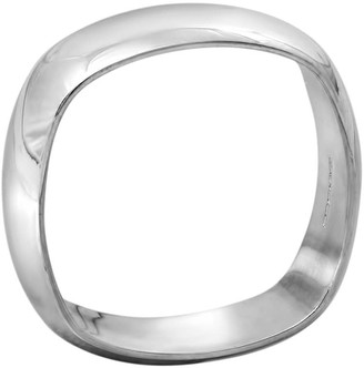 Edge Only Squared Off Mens Ring In Silver | Heavy band